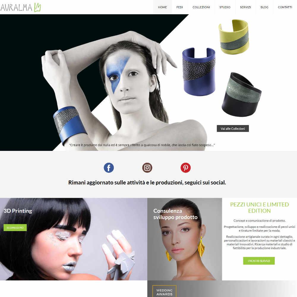 Auralma Design esempio pagina Home