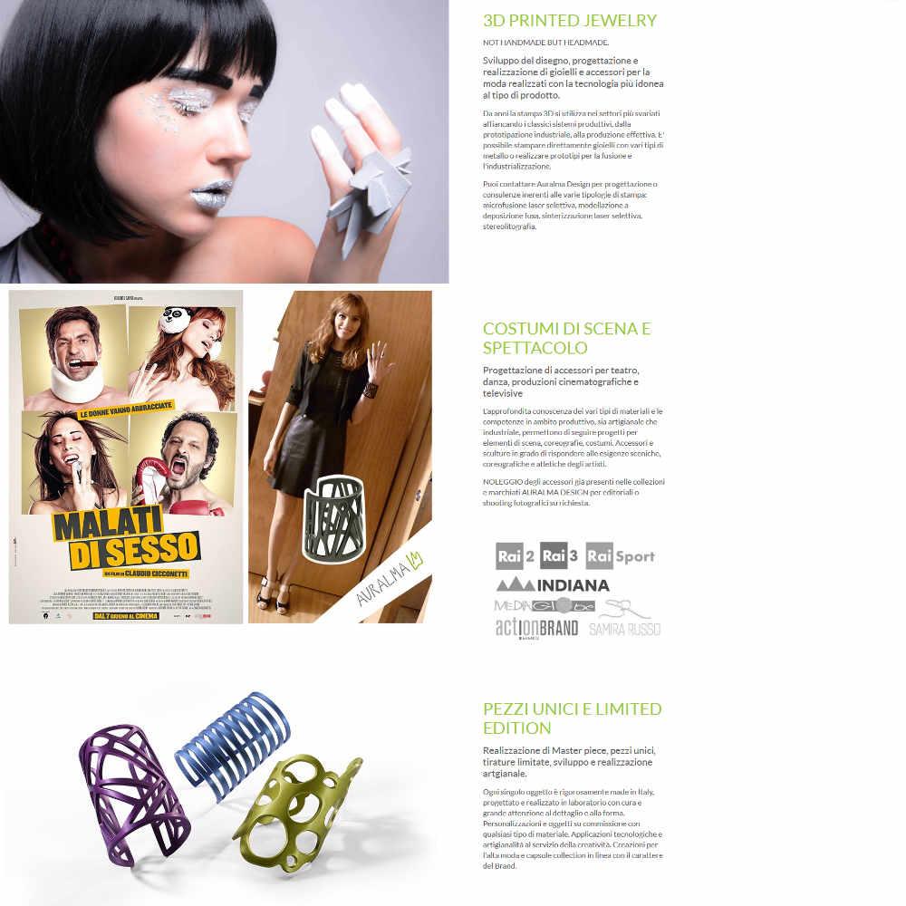 Auralma Design esempio pagina servizi