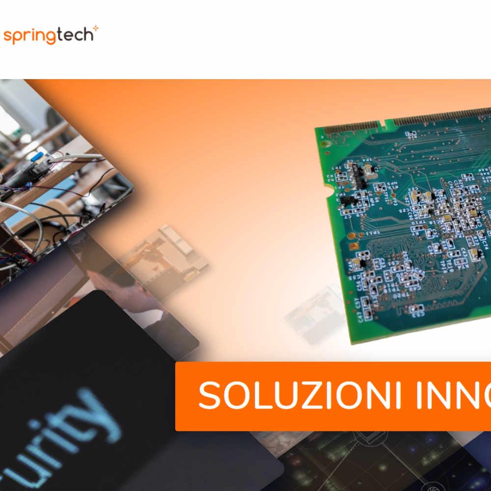 Spring Tech Innovations esempio pagina Home